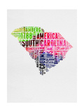 South Carolina Watercolor Word Cloud Posters by  NaxArt