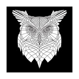 White Owl Mesh Posters by Lisa Kroll