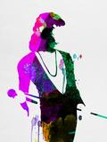 Freddie Watercolor Plastikskilte af Lora Feldman