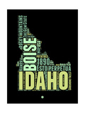 Idaho Word Cloud 1 Prints by  NaxArt