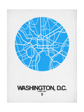 Washington, D.C. Street Map Blue Art by  NaxArt