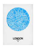 London Street Map Blue Art by  NaxArt