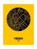 Vienna Street Map Yellow Art by  NaxArt