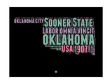 Oklahoma Word Cloud 1 Poster by  NaxArt