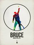 Bruce Watercolor Plastic Sign by David Brodsky