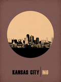 Kansas City Circle Poster 2 Plastic Sign by  NaxArt