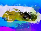 Bugatti Atlantic Watercolor 2 Plastic Sign by  NaxArt