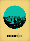 Cincinnati Circle Poster 2 Plastic Sign by  NaxArt