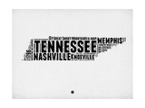 Tennessee Word Cloud 2 Prints by  NaxArt