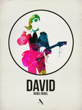 David Watercolor Plastic Sign by David Brodsky