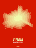 Vienna Radiant Map 1 Plastic Sign by  NaxArt