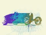 Bugatti Type 35 R Watercolor Plastic Sign by  NaxArt
