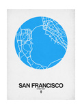 San Francisco Street Map Blue Art by  NaxArt