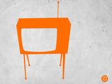 Orange Tv Plastic Sign by  NaxArt