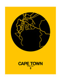Cape Town Street Map Yellow Prints by  NaxArt