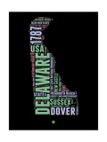 Delaware Word Cloud 1 Posters by  NaxArt