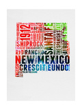 New Mexico Watercolor Word Cloud Prints by  NaxArt