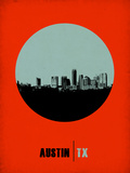 Austin Circle Poster 2 Plastic Sign by  NaxArt