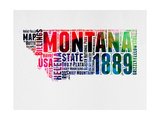 Montana Word Cloud 2 Prints by  NaxArt
