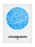 Johannesburg Street Map Blue Posters by  NaxArt