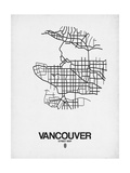 Vancouver Street Map White Posters by  NaxArt