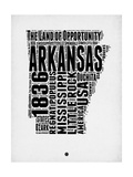Arkansas Word Cloud 2 Kunstdrucke von  NaxArt