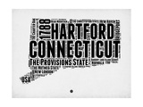 Connecticut Word Cloud 2 Prints by  NaxArt