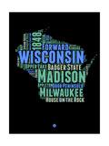 Wisconsin Word Cloud 1 Prints by  NaxArt