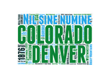 Colorado Word Cloud Map Prints by  NaxArt