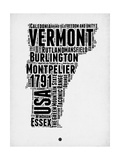 Vermont Word Cloud 2 Prints by  NaxArt