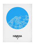Havana Street Map Blue Posters by  NaxArt