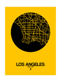 Los Angeles Street Map Yellow Prints by  NaxArt