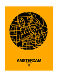 Amsterdam Street Map Yellow Posters by  NaxArt