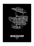 Vancouver Street Map Black Prints by  NaxArt