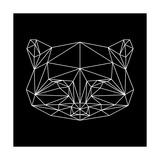 Black Raccoon Polygon Posters af NaxArt
