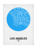 Los Angeles Street Map Blue Poster by  NaxArt