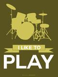 I Like to Play 5 Signes en plastique rigide par  NaxArt