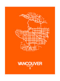 Vancouver Street Map Orange Print by  NaxArt