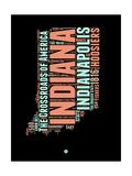 Indiana Word Cloud 1 Prints by  NaxArt