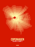Copenhagen Radiant Map 4 Plastic Sign by  NaxArt