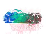 Bugatti Atlantic Watercolor 1 Plastic Sign by  NaxArt