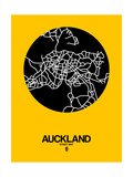 Auckland Street Map Yellow Posters by  NaxArt