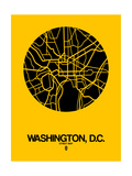 Washington, D.C. Street Map Yellow Posters by  NaxArt