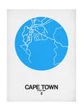 Cape Town Street Map Blue Poster by  NaxArt