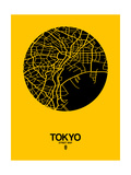 Tokyo Street Map Yellow Affiches par  NaxArt