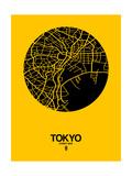 Tokyo Street Map Yellow Prints by  NaxArt