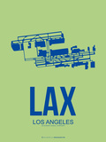 Lax Los Angeles Poster 1 Plastic Sign by  NaxArt