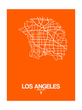 Los Angeles Street Map Orange Print by  NaxArt