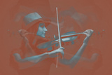 Violinist Brown Plastic Sign by  NaxArt