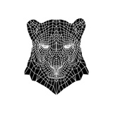 Panther Head Mesh Premium Giclee Print by Lisa Kroll